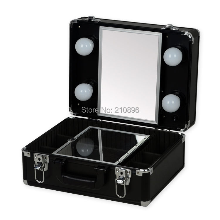 New Type Portable Makeup Case With Lights Light Weight Makeup Box