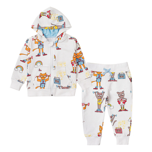 Image 2 - TinyPeople Brand Baby Boy Clothing Suits Autumn Casual Baby Girl Clothes Sets Children dress Hoodie Sports pants Spring Kids Set