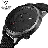 2017 CADISEN Famous Brand Black Silicone Women Men Sport Watches Couple Watch Quartz Clock Set Wristwatch