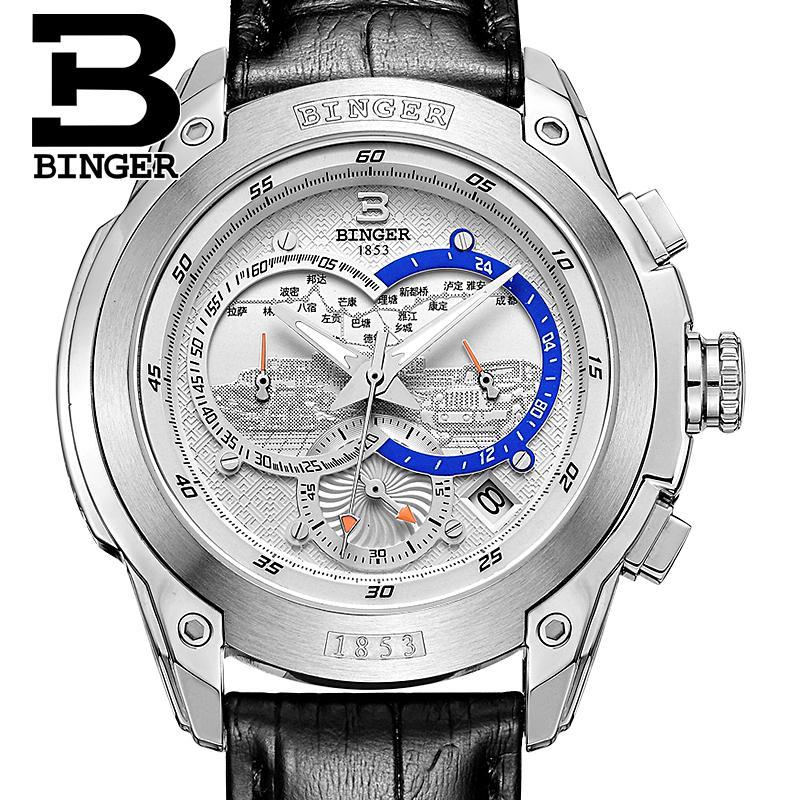 Szwajcaria zegarki mężczyźni luksusowa marka Zegarek na rękę - Męskie zegarki - Zdjęcie 5