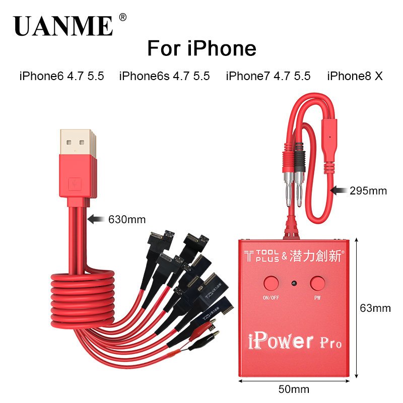 UANME Power Supply Test Cable With ON/OFF Switch iPower Pro for iPhone 6G/6P/6S/6SP/7G/7P/8G/8P/X DC Power Control Test Cable душевой кабина 148 82 220 timo tl 1505
