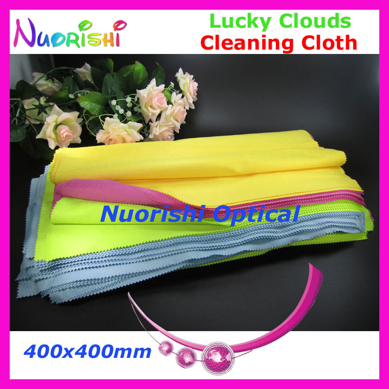 5pcs Big Size 400x400mm Microfiber Lucky Clouds Sunglasses Eyeglasses Jewelry Watch Cleaning Cloth can be water washed LC142