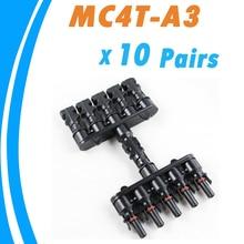10 pairs M/FM Панели Солнечных Батарей MC4 5 до 1 Т Филиал 30А Панели Солнечных Батарей MC4 Разъем Кабеля Муфта Combiner Панели Кабельных Разъемов