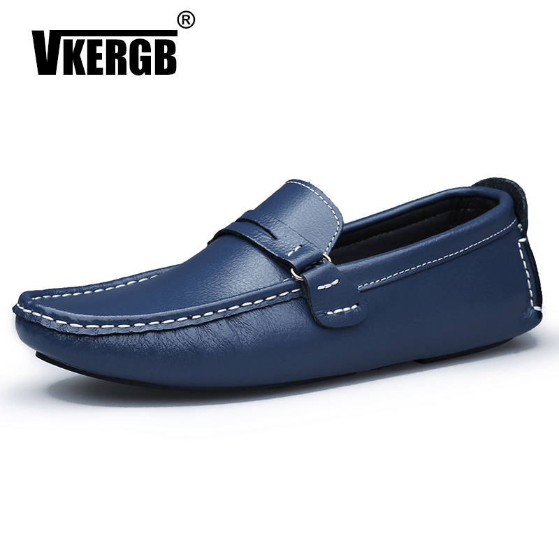 New Male Comfortable Casual Shoes Loafers Men Shoe Quality Split Leather Shoes Men Flats Hot Sale Moccasins Driver Walking Shoes
