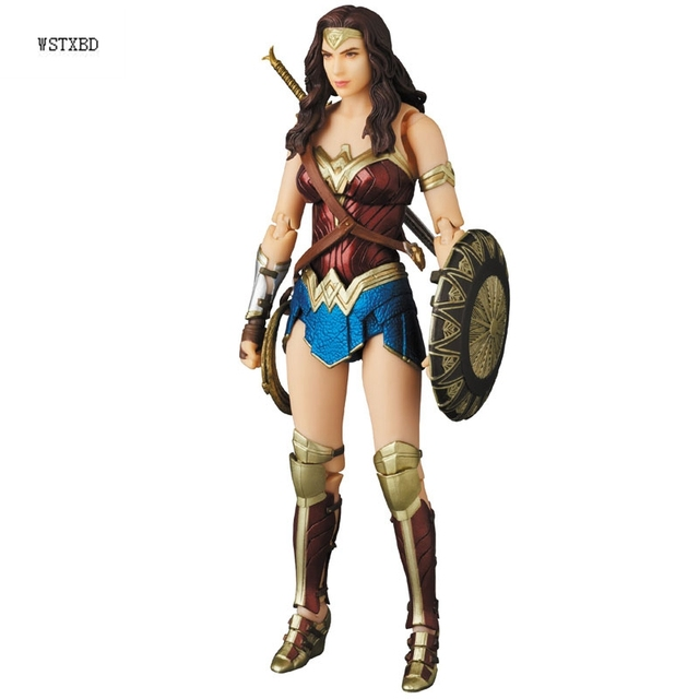 dee0ea82ac3 WSTXBD Original Med Toy MAFEX Wonder Woman Justice League PVC Action Figure  Brinquedos Dolls Toys Figurals