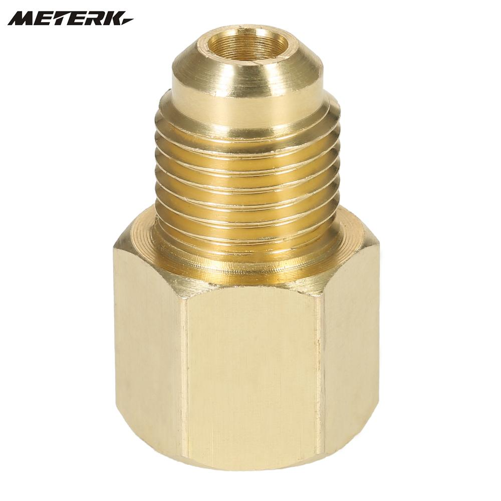 US $1 33 11% OFF|R134A Refrigerant Tank/Vacuum Pump Adapter to R12 Fitting  Adapter 1/2