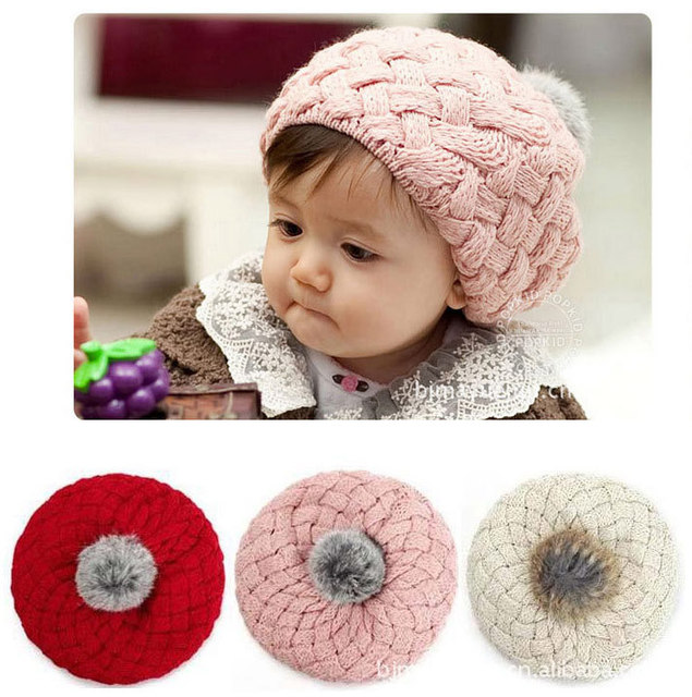 c083176f459 Kids Girls Baby Handmade Hat Crochet Knitting Beret Hats Caps lovely Ice  cream Winter Beanie hat winter Girls   Boys Cap hat
