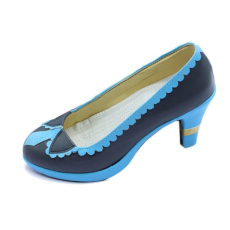 Vocaloid femmes Hatsune Miku Cosplay chaussures à talons hauts sur mesure