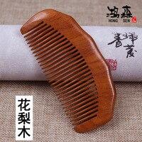 2pcs Lot Natural Sandalwood Handmade Narrow Tooth Wood Combs No Static Pocket Comb Beard Comb Hair