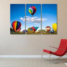 Nordic Decoration Pictures hot air balloon oil painting wall art canvas poster and printed  for Living Room Home Decor