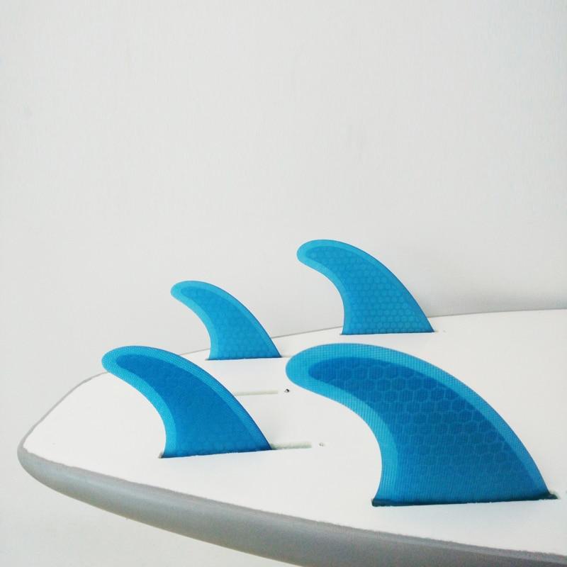 FCS Fins G5 + GL Honeycomb Quilhas Surfboard Fins Surf Thruster - Су спорт түрлері - фото 6