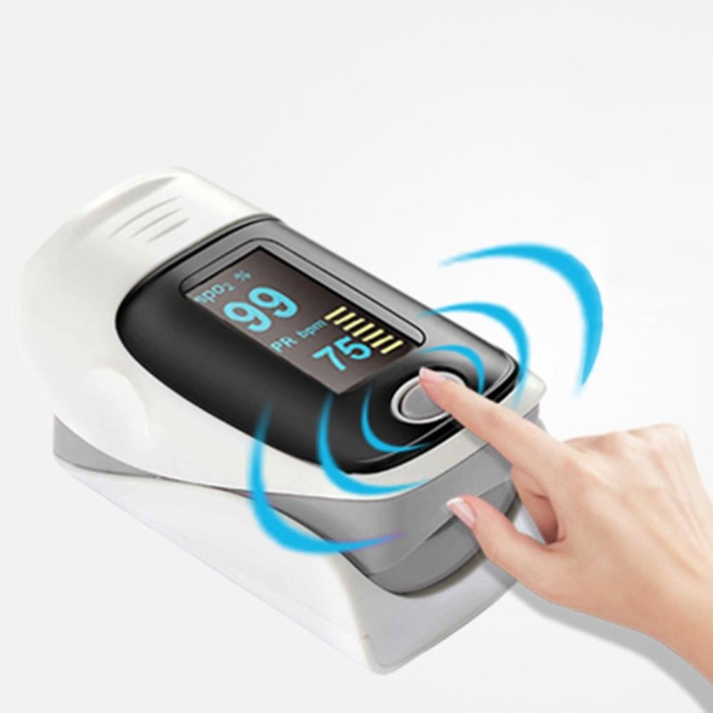 Accuracy Durability Digital Health Monitors Fingertip Pulse Oximeter SPO2 Pulse Rate Oxygen Monitor Health Care oled pulse finger fingertip oximeter blood spo2 pr heart rate monitor