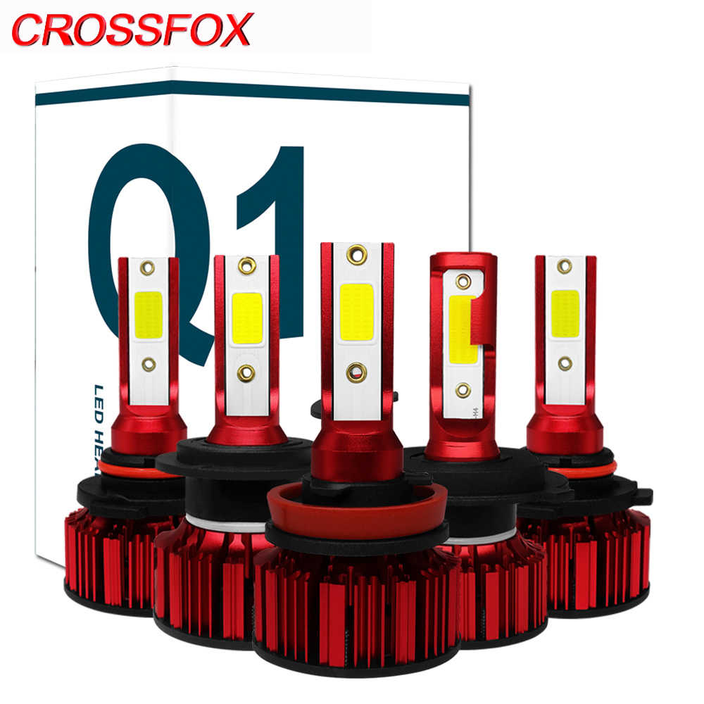 CROSSFOX 2Pcs LED H4 H11 H8 H9 9005 9006 HB3 HB4 9003 HB2 H7 LED Headlight Bulbs Auto Lights Car Lamps 12V 6000K COB Chips