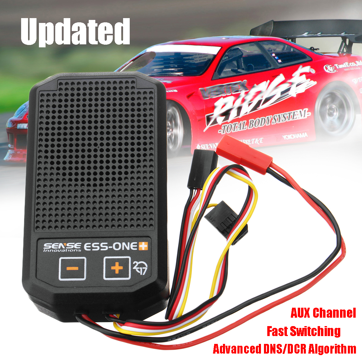 DNS/DCR Sense Innovations One Plus 2017 Real Engine Sound Simulator Kit RC Car Parts Advanced Overload Protected Intelligent new dual speakers sense innovations ess dual engine sound system real engine sound simulator for scx10 trx 4 crawler rc car