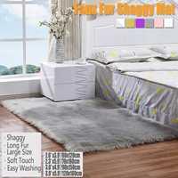120*180 см шерсть имитация ковры из овчины искусственного меха нескользящие для спальни, ворсистый ковер гостиная коврики круглый коврик спал