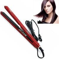 FMK Professional Hair Straightener Flat Iron Fast Titanium Heating Brush Flat Irons Styling Tool EU Plug