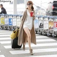 Smpevrg New Female Cardigan Cashmere o neck Coat Jacket Fashion Slim soft European And American Popular wool sweater Coat