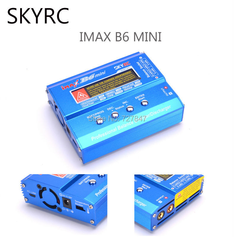 SKYRC IMAX B6 MINI 60W Balance RC Charger /Discharger For RC Helicopter Re-peak Toy Quadcopter Battery Charging