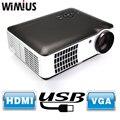 Wimius RD-806A 2800 Lúmenes Full HD LED Proyector 1080 P Proyector para el Teatro Casero Negocios Presentación Videojuegos TV Movie HDMI