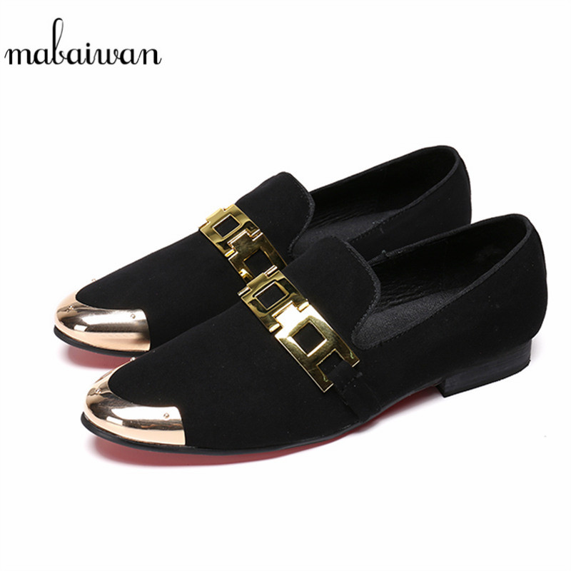 Mabaiwan Casual Men Shoes Loafers Slipper Black Suede Wedding Dress Shoes Mens Slip-On  Patry Handmade leather Flats Size 38-46Mabaiwan Casual Men Shoes Loafers Slipper Black Suede Wedding Dress Shoes Mens Slip-On  Patry Handmade leather Flats Size 38-46
