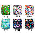 New Baby Washable Cloth Diaper Cover print Adjustable Nappy Reusable Cloth Diapers Available 0-2years 3-15kg
