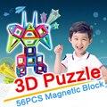 Mini magnética de diseño de construcción ladrillos de juguete para niños juguetes educativos mini creativo enlighten bloques de construcción magnética