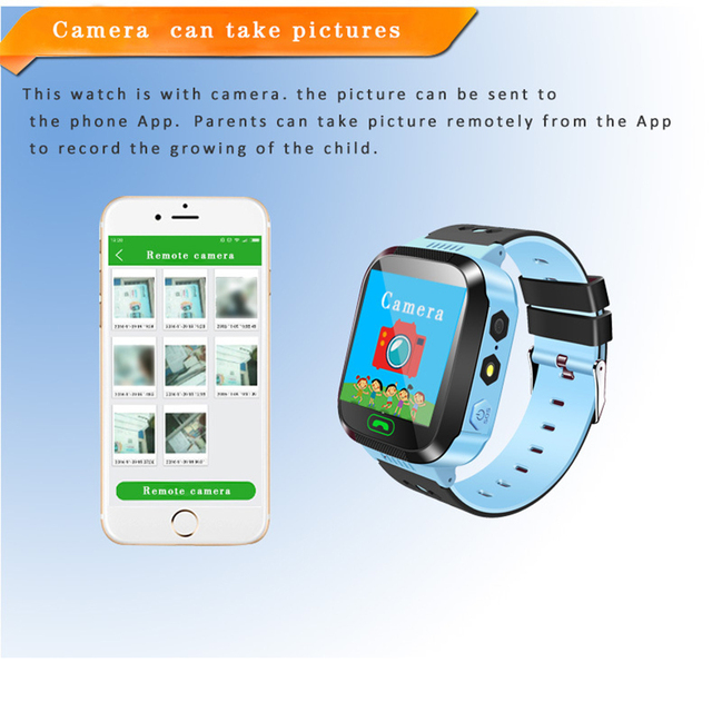 BOX-W Fashion touch screen watch Q528 GPS track big button sos emergency phone kids smart watch 3