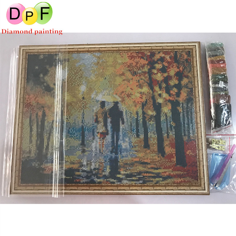 c6d10eda4a DPF Diamond Embroidery with Framed round Diamond Painting Diamond Cross  Stitch Rhinestone home Decor painting Flowers and desser-in Diamond  Painting Cross ...