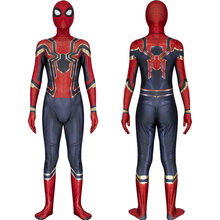 Commercio all'ingrosso 2019 Costume di Spiderman Spiderman Ritorno A Casa Cosplay Tom Holland Ferro Spider Man Vestito di Halloween Del Partito Regalo di Nozze Favori(China)