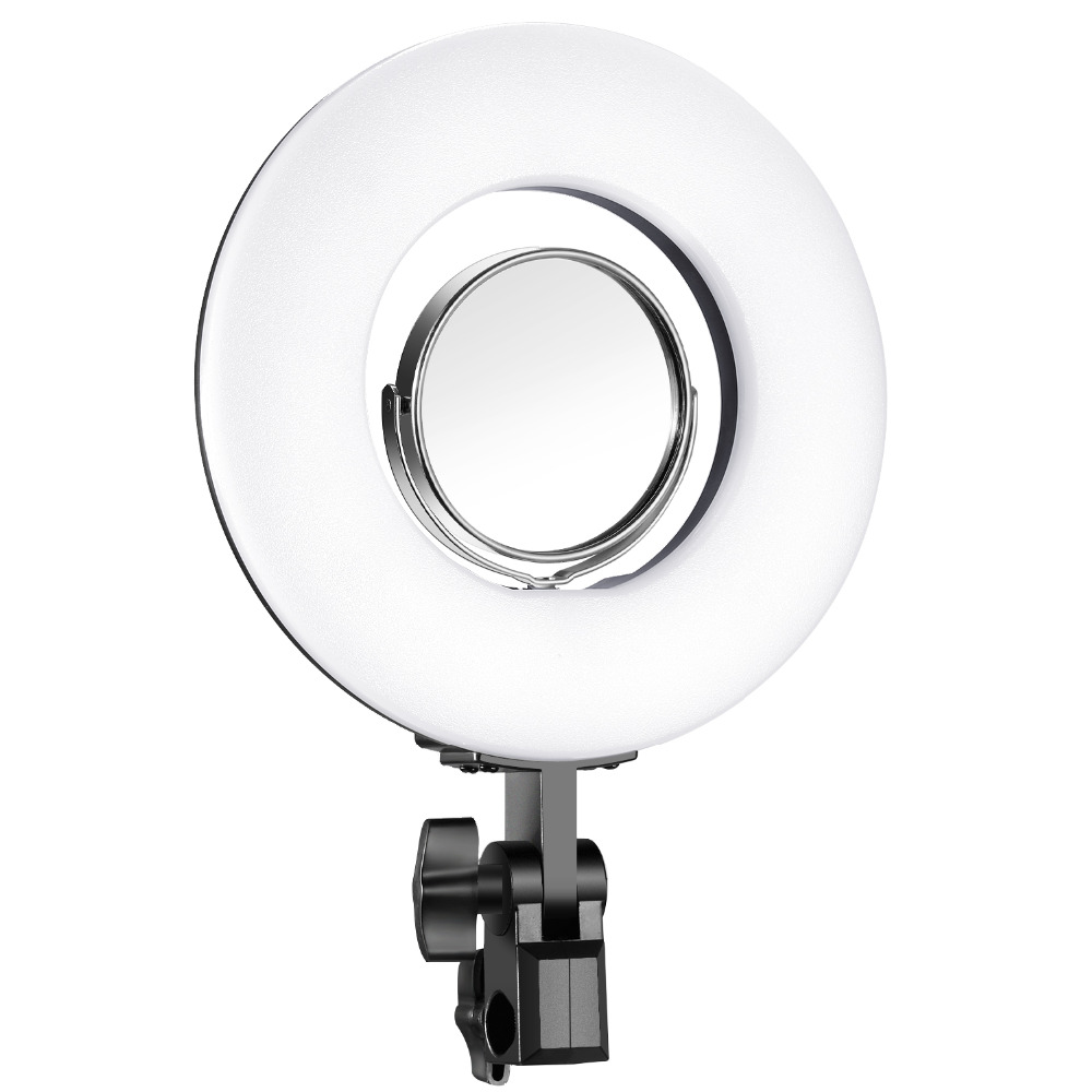 Neewer Dimmable Mini LED Ring Light 7.7 inches/19.5 centimeters Outer 24W 5500K with 3.5-inch Mirror for Beauty Blog Make up Sel