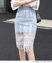 Spring Summer Women Newest Jeans Lace Stitching Skirt Fashion Floral Above Knee Mini Hip Denim Skirt XHSD-3085