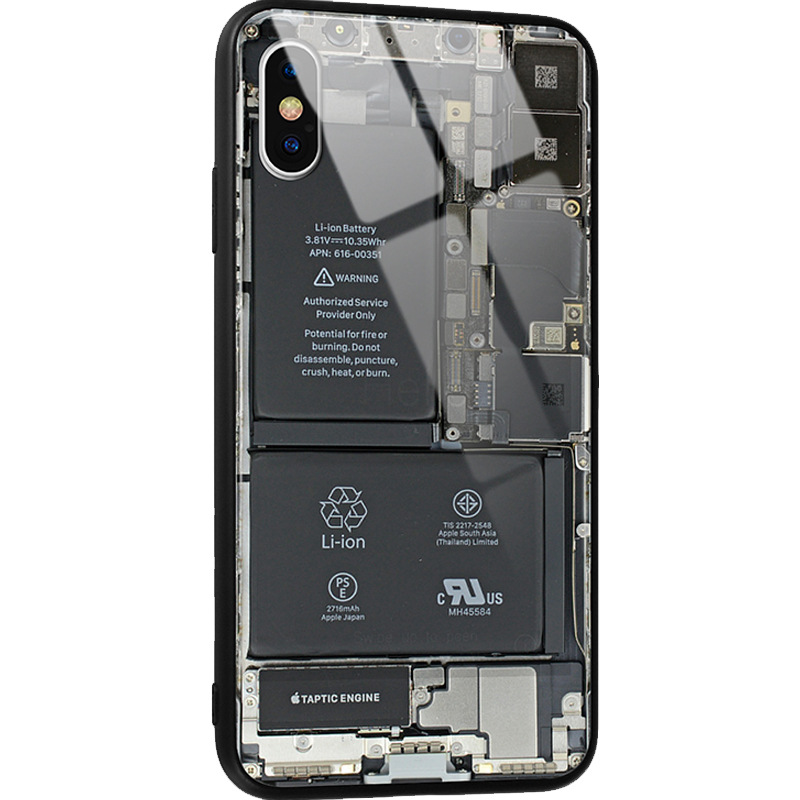 2019 mobile phone case for Apple 7plus mobile phone shell X glass shell iPhone6s teardown circuit board for xiaomi 8