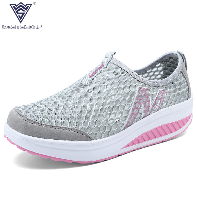 Women Shoes Summer Height Increasing Casual Women Shoes Swing Flat Platform Shoes,  Breathable Air mesh Mujer Sapatos casio prw 6000y 1e