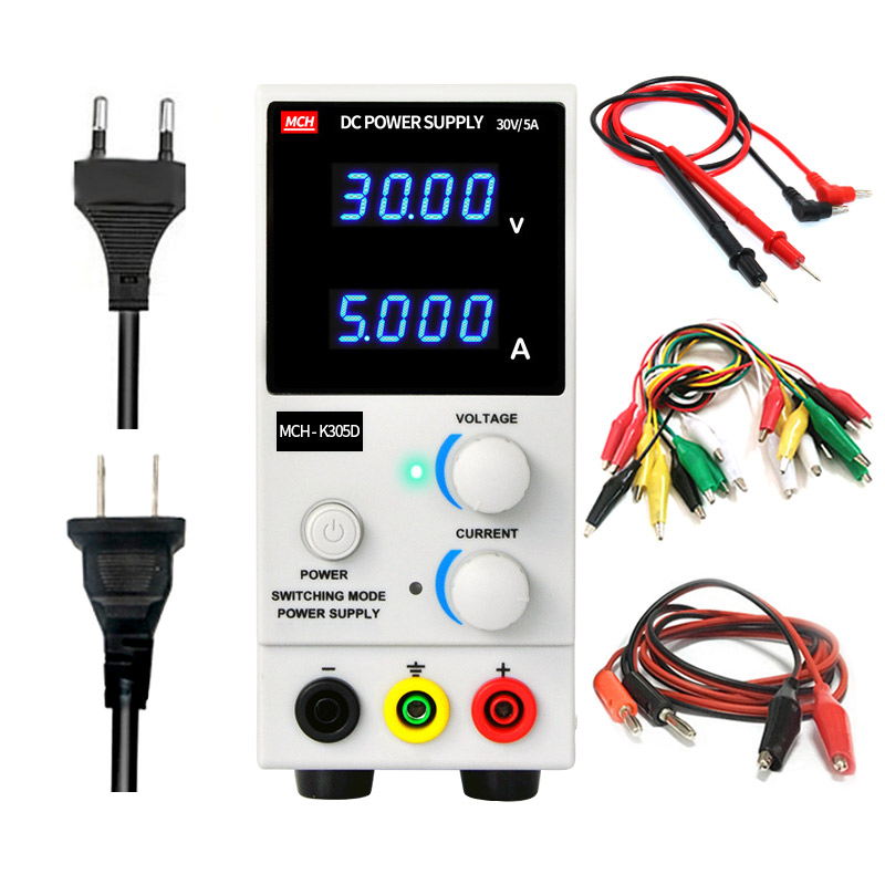 MCH K305D Laboratory power supply High accuracy 4 digit display 30V 5A Christmas tree LED lights