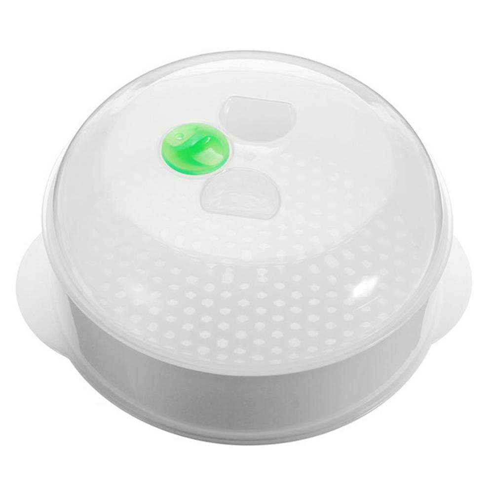 Single-layer Microwave Oven Special Steamer Plastic Round Steamer With Lid Cooking Tool