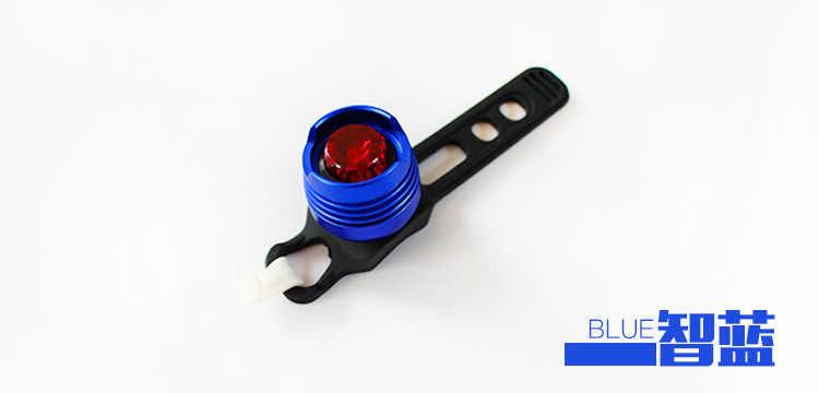 دراجة دراجة الدراجات الجبهة الخلفية الذيل خوذة الأحمر أضواء وامضة LED للماء MTB مصباح تحذير السلامة الدراجات غلاف من الألومنيوم