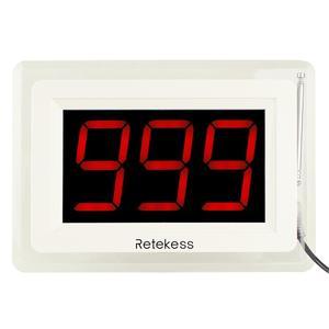Image 4 - אלחוטי מסעדת מלצר קורא מערכת 10pcs שיחת כפתור + 1 מקלט מארח תצוגת עם קול דיווח מסעדה ציוד