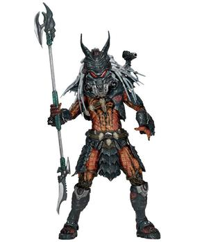 NECA The Ultimate Alien Hunter Deluxe Predator Clan Leader with Bendable Tentacles PVC Action Figure Model Toy predator concrete jungle figure