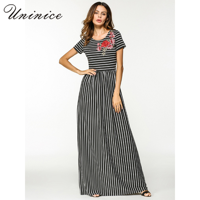 931d3e52e1f1 Casual Maxi Dress Cotton Abaya Embroidery Stripe Muslim Long Robe Gowns  Loose Style Middle East Moroccan Islamic Prayer Clothing