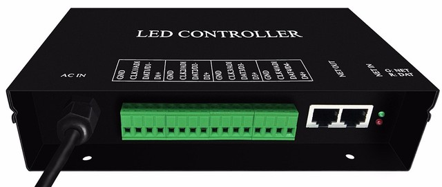 H802RA;4 ports(4096pixels) salve LED pixel controller;support Art-Net protocol for MADRIX,or marster controller(H803TV/ H803TC)