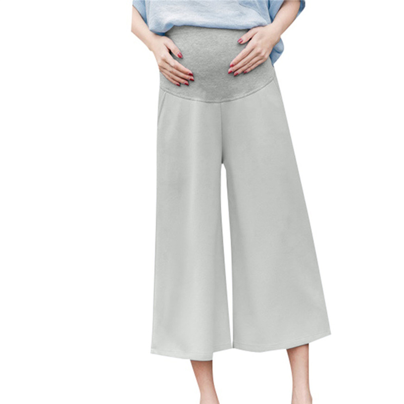 TELOTUNY Elastic Waist Adjustable Pregnant womens casual pants wearing stomach lift pants loose wide leg pants eight pants G 29TELOTUNY Elastic Waist Adjustable Pregnant womens casual pants wearing stomach lift pants loose wide leg pants eight pants G 29