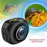 Оригинальный 4 К HD Mini Камера VR уникальный Двойной объектив Wi Fi Видео действие открытый панорамный спортивные Камера Поддержка 32 г Micro SD карты