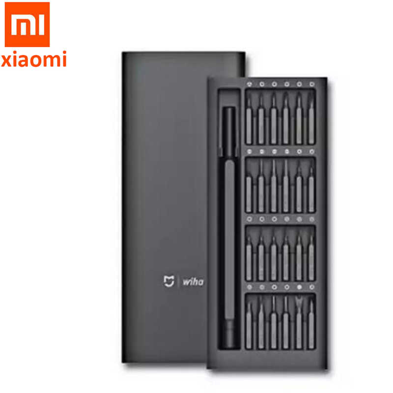 คุณภาพสูง Xiaomi Mijia Wiha ทุกวันชุด 24 Precision Bits แม่เหล็กอลูมิเนียมกล่อง DIY สกรู Smart Home ชุด