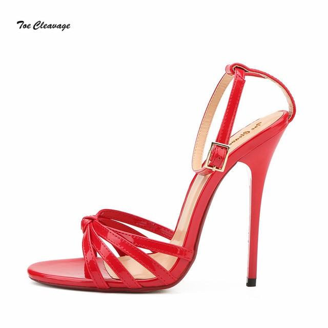 2108fcae2b Plus:37-48 49 50 Lady stilettos Sandals Summer open Toe shoes woman Office  zapatos mujer sexy 13cm Thin Heel Crossdresser Pumps