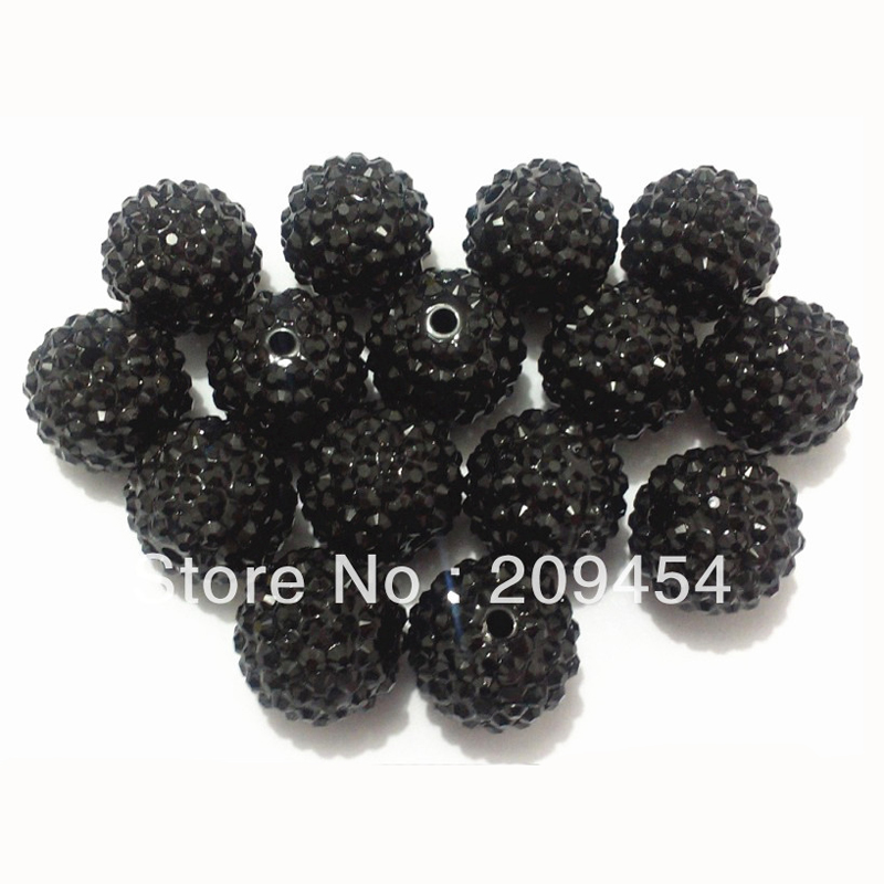 Image 5 - Wholesale Part 2 1, 12mm 14mm 16mm 18mm 20mm  Chunky Resin RhinestoneBall Beads For Fashion Chunky Jewelry-in Beads from Jewelry & Accessories