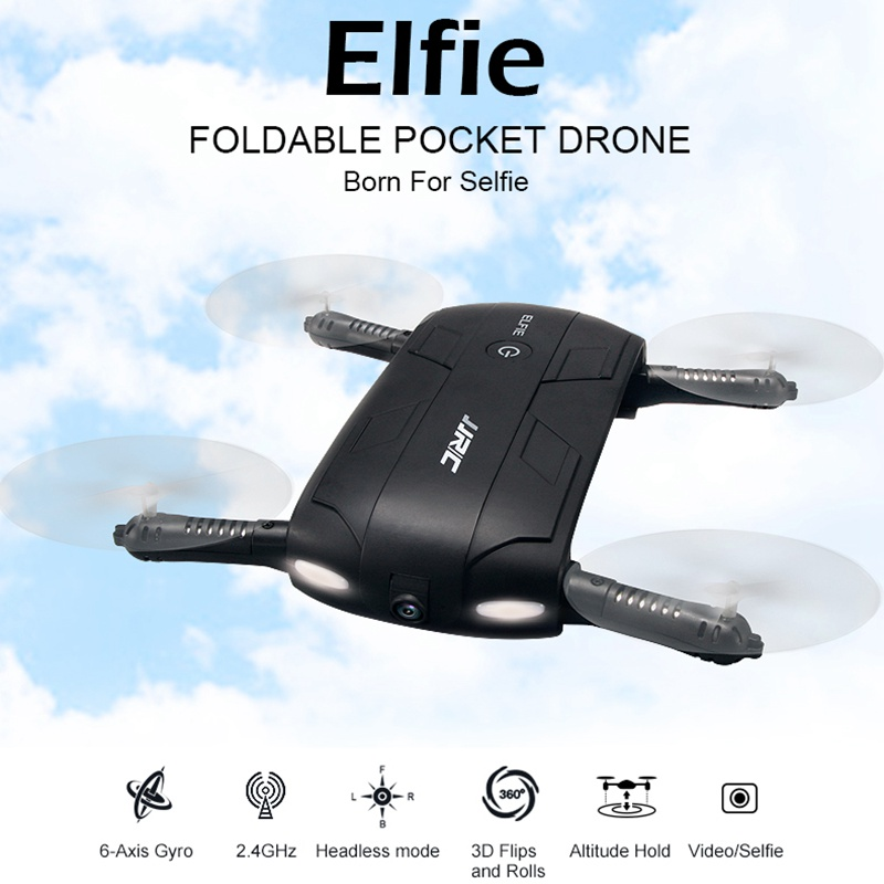 Jjrc H37 Foldable Pocket Selfie Drone With Camera Wifi Fpv Quadcopter Rc Drones Phone Control Helicopter