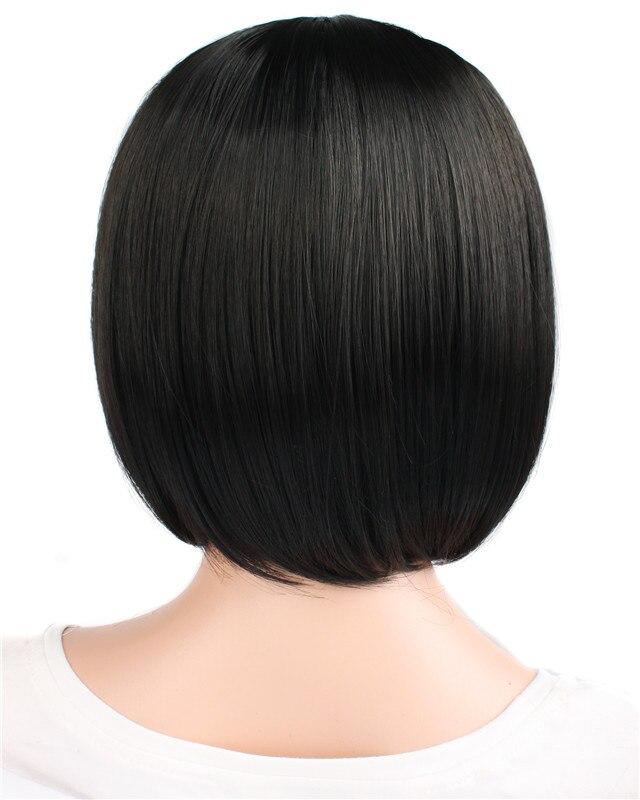 mapofbeauty короткие прямые синтетические волосы черный