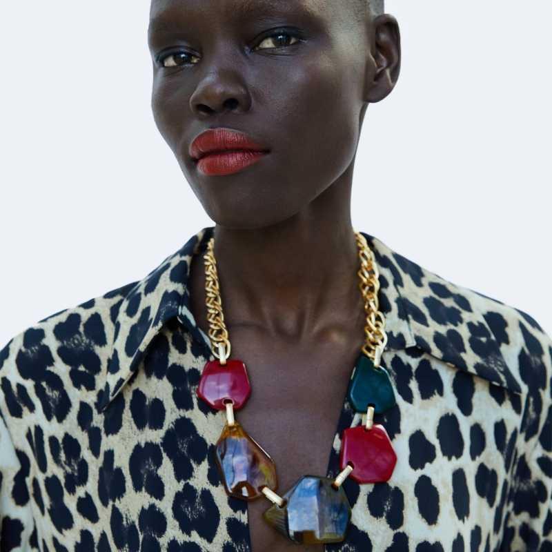 JUJIA za עיצוב בוהמי הצהרת זהב שרשרת לנשים גדול מקסי צווארון לולאות שרשרת תליון תכשיטים