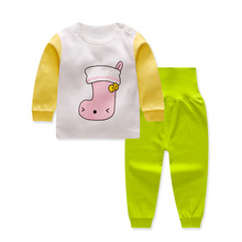 Free shipping Pullover Cartoon Baby Boys Girls Clothes Cotton Baby's Sets G1425-1881