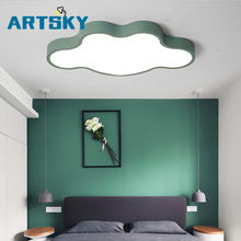 Nordic Cloud shape LED Acrylic Ceiling Lights creative Macarons luminaria living room kids room aisle Home Decoration(China)